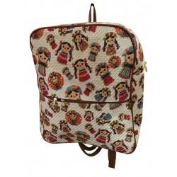 mochila artesanal mexicana frente